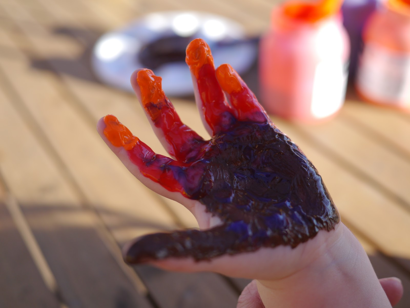 Little Hiccups Turkey Hand Prints For Thanksgiving