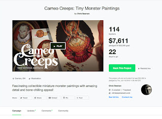 https://www.kickstarter.com/projects/chrisseamanart/cameo-creeps-tiny-monster-paintings