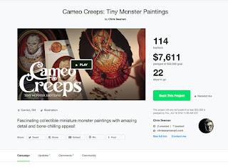 https://www.kickstarter.com/projects/chrisseamanart/cameo-creeps-tiny-monster-paintings