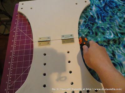 Cutting PUL using this wood pattern: 3 min per diaper.
