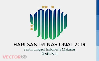 Logo Hari Santri Nasional (HSN) 2019 Santri Unggul Indonesia Makmur RMI-NU - Download Vector File EPS (Encapsulated PostScript)
