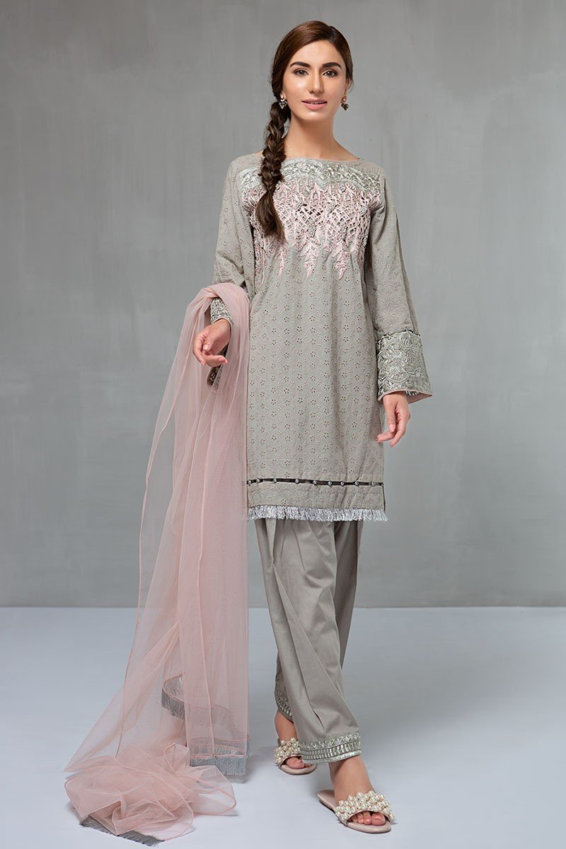 Maria B Eid Collection 2018 Suit Grey Dw 2091