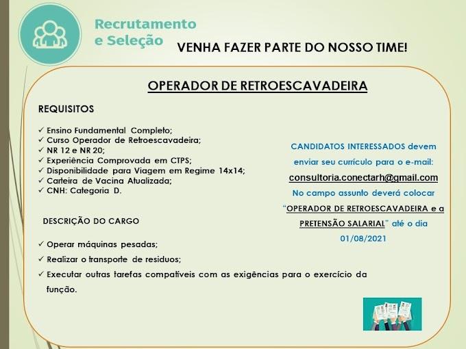 OPERADOR DE RETROESCAVADEIRA