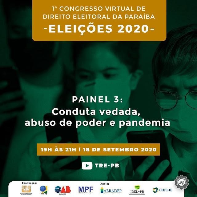 TRE-PB promove o I Congresso Virtual de Direito Eleitoral da Paraíba