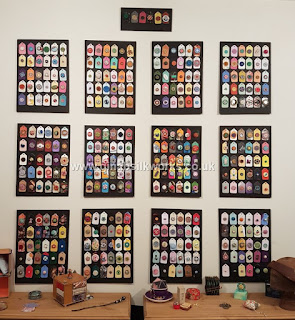 Gina Barrett's One Button a Day 2020 - complete button display