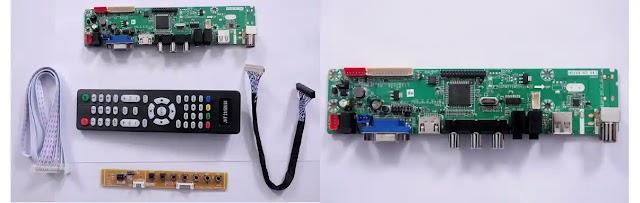 Factory setting code for Homebase universal led tv circuit
