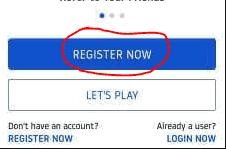 register in oneto11 app