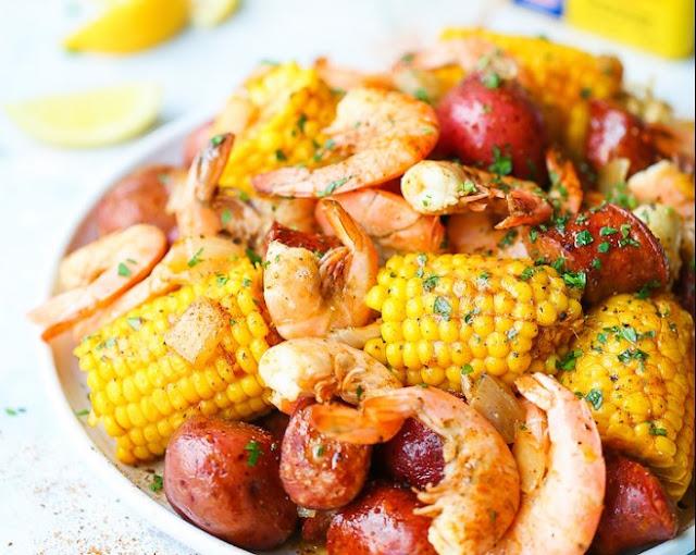 Shrimp Boil #dinner #seafood