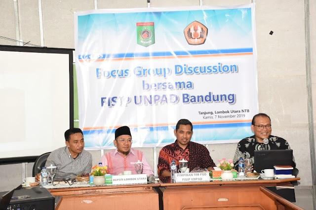 Bangun Model Relasi Kewenangan Pemerintahan, FISIP UNPAD FGD Bersama Pemda KLU