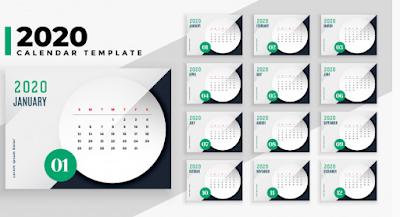 kalender2020.cdr, kalender 2020 elegan, kalender 2020 bisa di edit, kalender 2020 corel