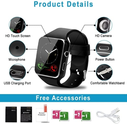 Review Amokeoo Touch Screen Bluetooth Smart Watch