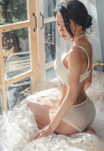 an seo rin lingerie sexy korea white