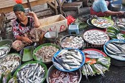 """Ambon, Malukupost.com - Harga ikan segar berbagai jenis dan telur ayam ras yang ditawarkan para pedagang di dua pasar tradisional Kota Ambon melonjak karena stok berkurang. Pantauan di pasar Mardika, Kamis (10/11), para pedagang menawarkan ikan cakalang segar mencapai Rp50.000/ekor atau naik dari sebelumnya Rp35.000/ekor. Begitu juga jenis ikan momar putih yang biasanya Rp20.000/tumpuk (delapan ekor) kini hanya empat ekor saja dengan harga Rp20.000. Ikan kawalinya Rp20.000/tumpuk(empat ekor) dan komu Rp20.000/lima ekor kecil. Sedangkan untuk jenis ikan karang kerapu harga yang dipatok yakni Rp40.000/tumpuk (empat ekor), kini naik hingga mencapai Rp50.000. Penjual ikan momar segar, Rita mengatakan, ikan di pasar Ambon tiga hari terakhir ini relatif berkurang, terutama jenis momar dan kawalinya karena pasokan dari nelayan terbatas. """"Ikan momar segar dipasok para nelayan, tetapi berukuran kecil dengan harga Rp900.000/loyang, selanjutnya dijual dengan harga Rp20.000/tumpuk (empat ekor),"""" ujarnya."""