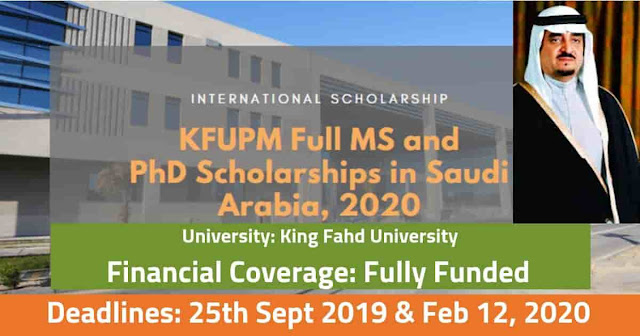 KFUPM Scholarships for Master & Ph.D Fully Funded in Saudi Arabia