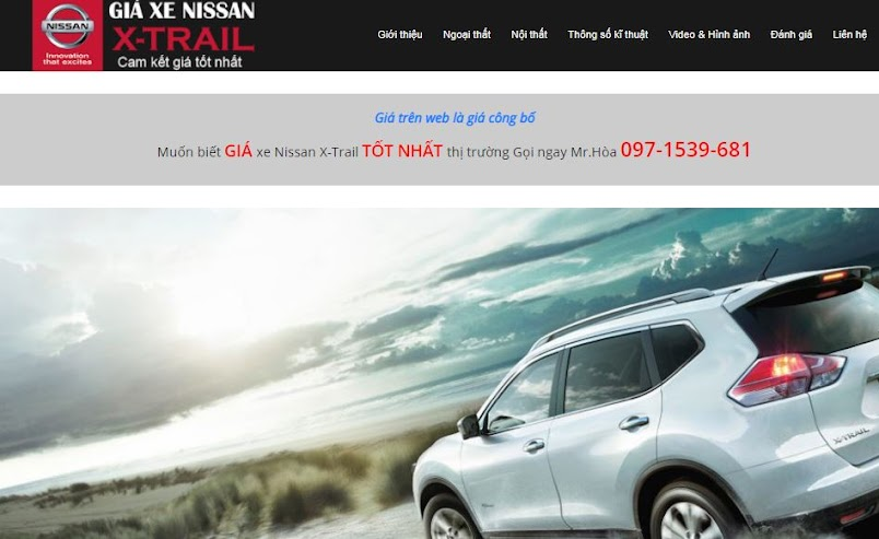 Giao diện landing page Nissan