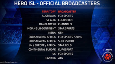 ISL 2017 Broadcasting TV Channel