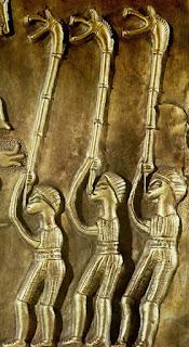 Carnyx players on the Gundestrup cauldron