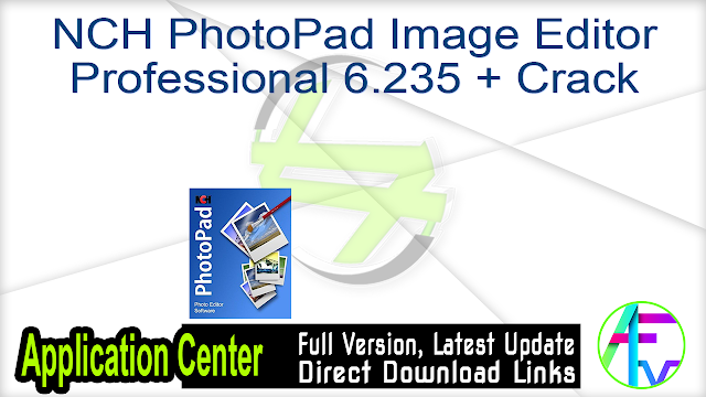 NCH PhotoPad Image Editor Professional 6.235 + Crack