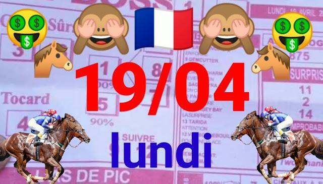Pronostic quinté pmu du lundi Paris-Turf TV - 100 % 19/04/2021