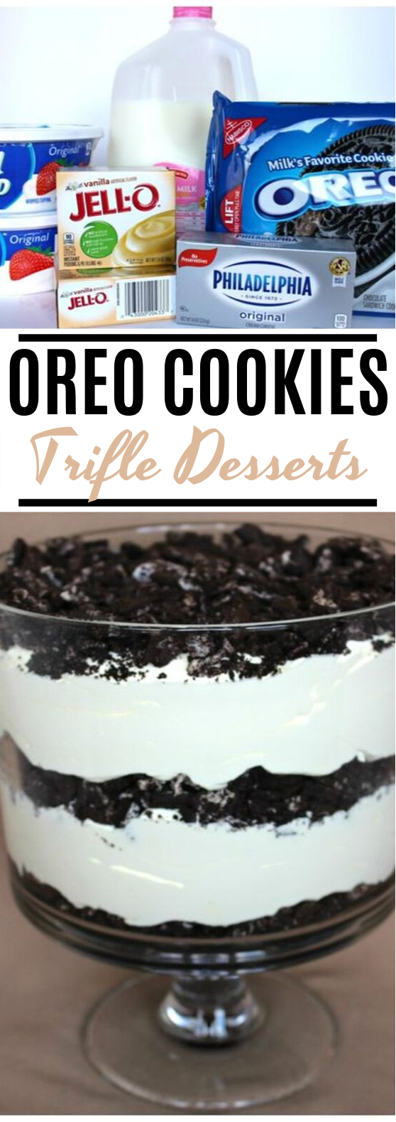 Oreo Cookie Trifle #desserts #oreo