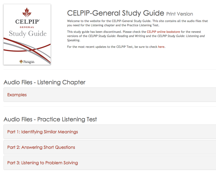 celpip general study guide print version and audio files site rh celpip tip blogspot com celpip general ls study guide pdf celpip general study guide free download