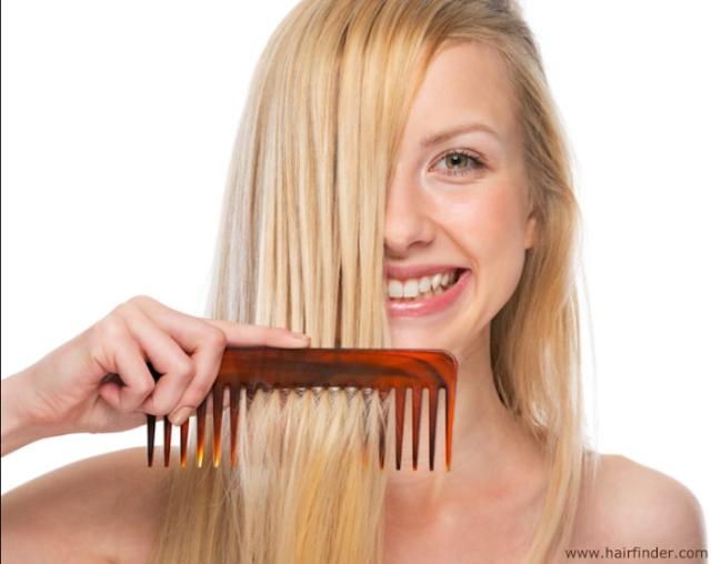 Menyisir rambut secara teratur