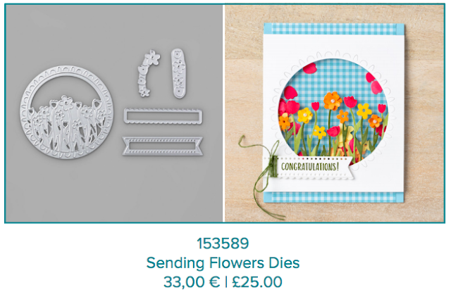 Sending Flowers dies Stampin Up