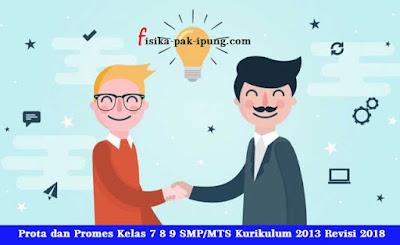 Prota Promes Kelas 7 8 9 SMP/MTS Kurikulum 2013 Revisi 2018