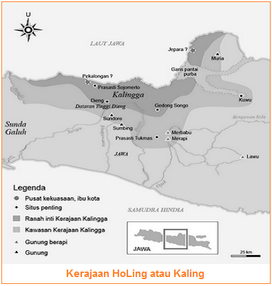 Kerajaan HoLing atau Kaling (Letak, Raja, Pemerintahan, Kehidupan Masyarakat, Kedaaan Sosial Ekonomi Kerajaan Holing-Kaling)