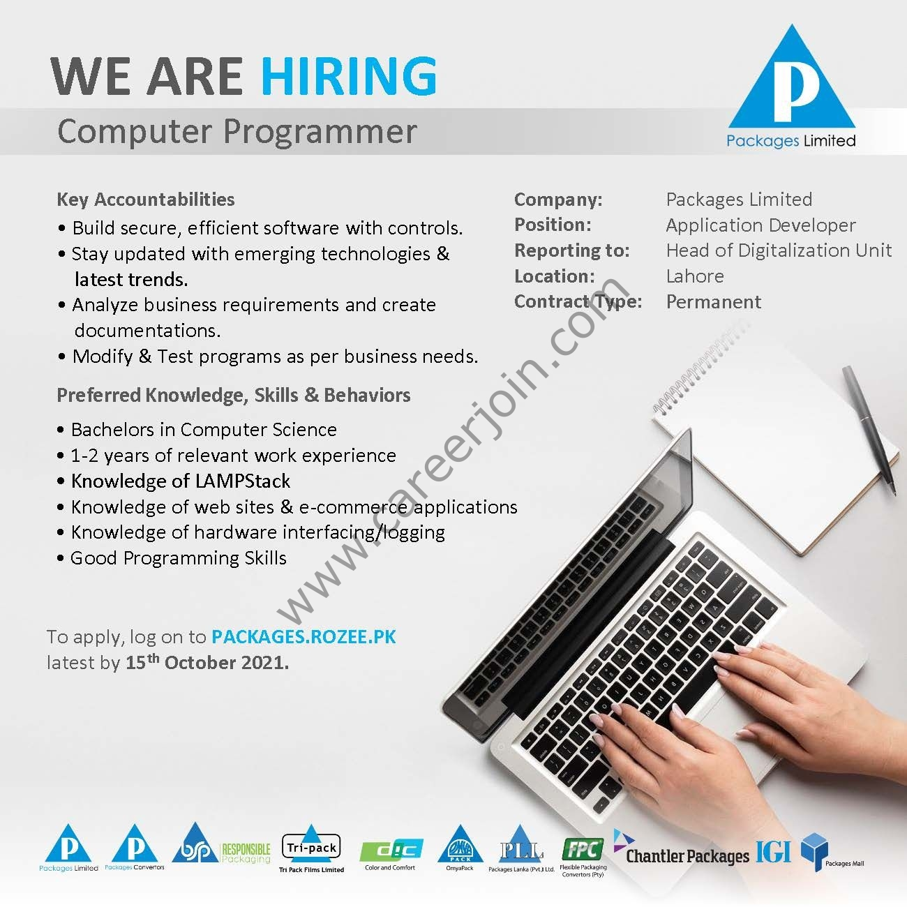 Packages Limited Jobs Computer Operator