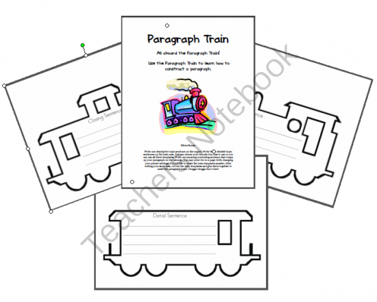 Teaching with TLC: Paragraph Train Freebie
