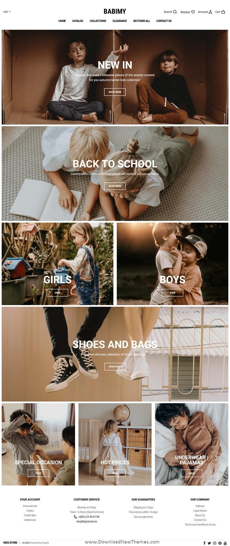 Shopify Kids Fashion Store Theme