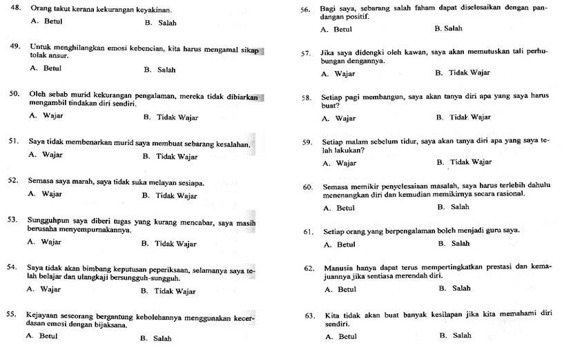 Contoh Soalan Ujian Psikometrik Pembantu Setiausaha Pejabat Gred N19