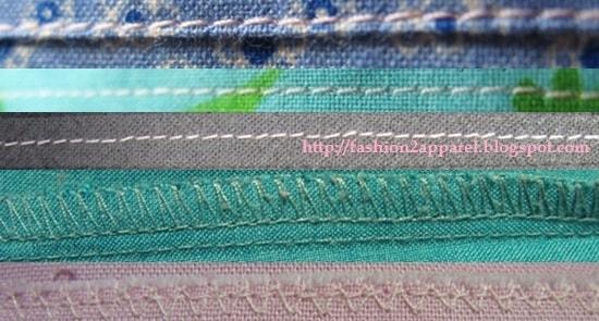 Different seam types
