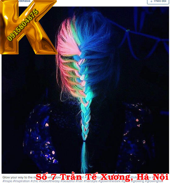 hair color, neon, highlight, nhuộm