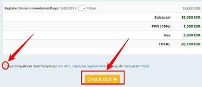 check out pembayaran domain di rumahweb