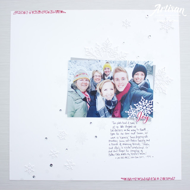 Snow is Glistening by Stampin! Up - 12x12 Layout with Snowfall Dies - Susan Wong, Artisan Design Team