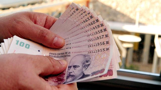 Pesos Argentinos Dinheiro Vivo