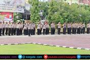 Kapolres Pimpin Upacara Korps Raport, Puluhan Personil Polres Pinrang Naik Pangkat