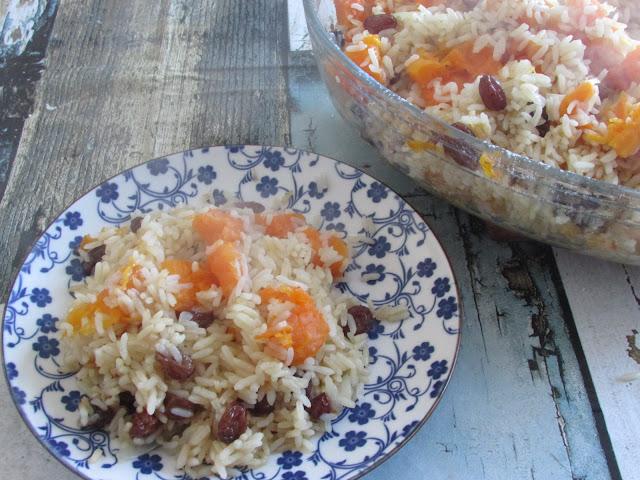 ryż zapiekany z dynią