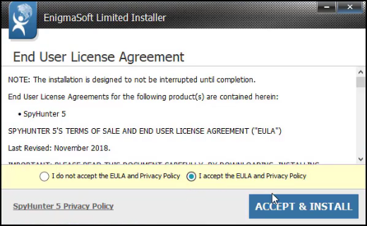 accept & install