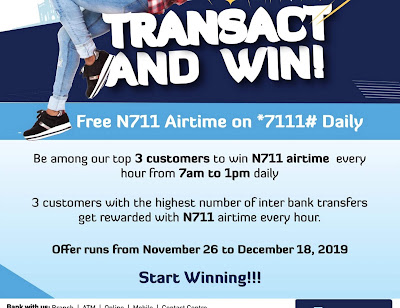 Keystone Bank is Giving Away Free N711 Daily Airtime Reward, See How to Get Yours