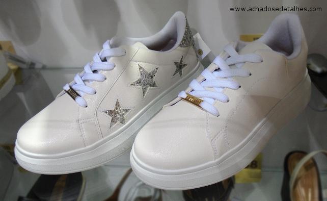 Vizzano Tenis Branco Estrelas
