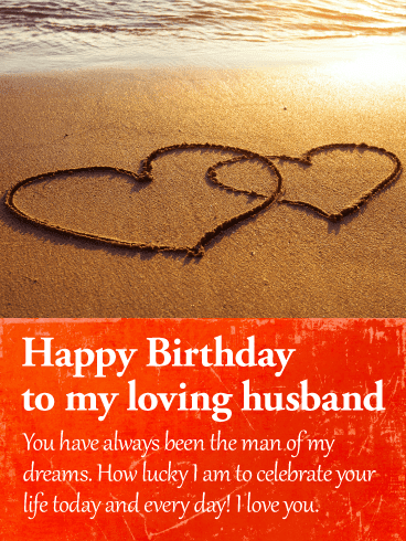Send this I am Lucky to Celebrate! Happy Birthday Wishes Card for Husband