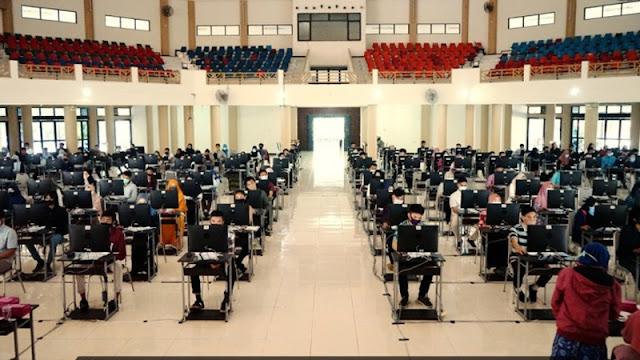 Gelar UTBK Jalur Mandiri, Universitas Mataram Terapkan Protokol Kesehatan Covid-19