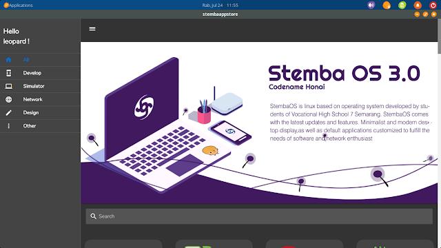 menu utama Stemba App Store