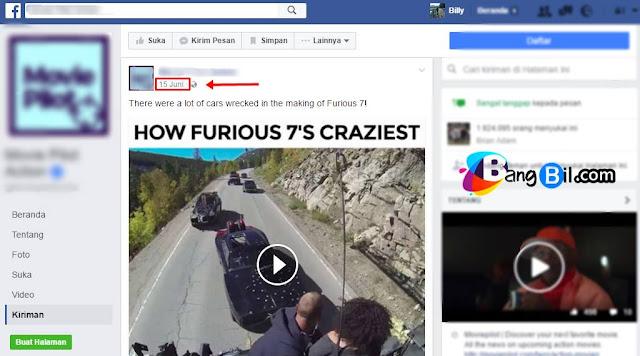 Klik pada tanggal video
