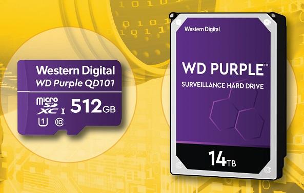 WD Purple 14TB HDD and WD Purple SC QD101 Ultra Endurance microSD card