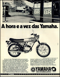 propaganda moto Yamaha - 1977, moto Yamaha 77, Yamaha anos 70, motos anos 70, moto década de 70, Oswaldo Hernandez,