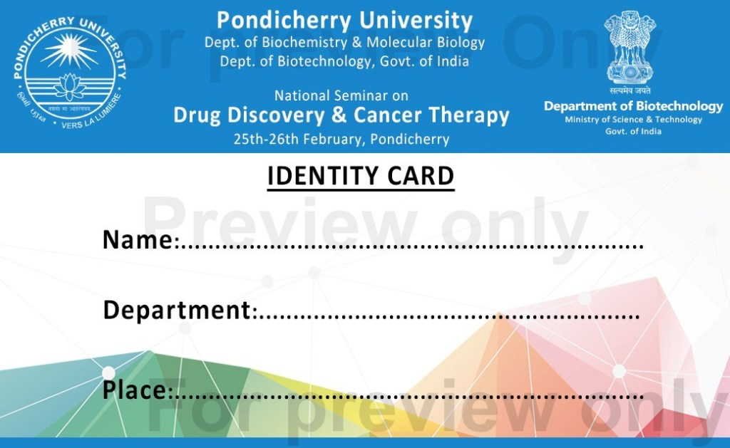 Id card invitation letter for national seminar pondicherry id card invitation letter for national seminar pondicherry university stopboris Choice Image